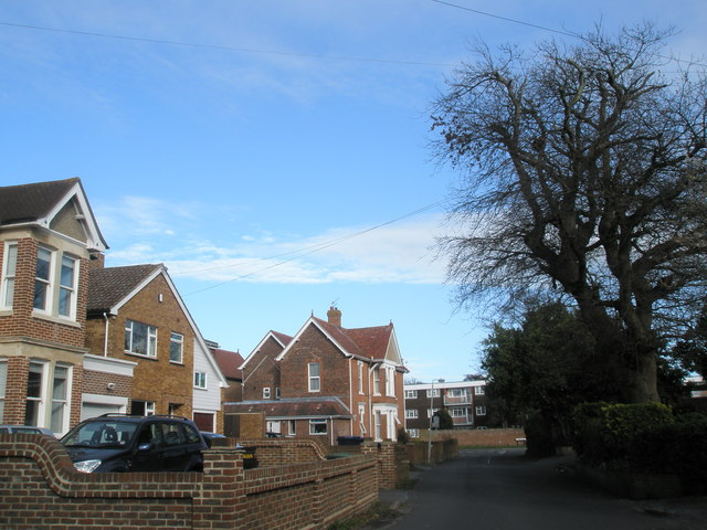 Eastern end of Bacon Lane, West Town