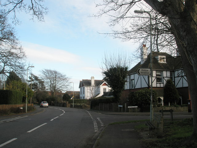 Junction of Hollow Lane and Westfield Avenue, Hayling Island