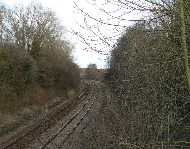 Railway Cutting, Norwich to Cambridge Line, Harford Bridge