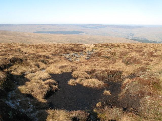 Frozen peat on Chapel Fell