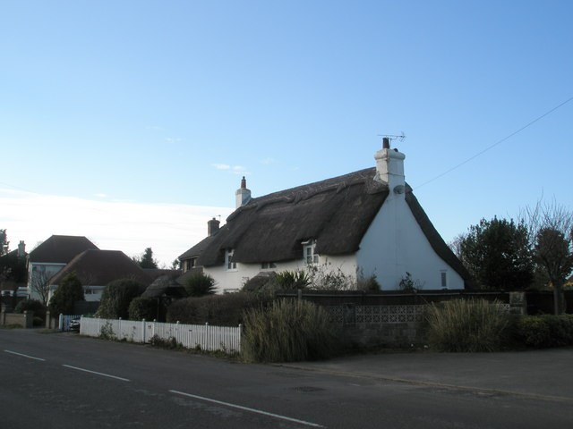 Thatched cottage in St  Mary's Road.