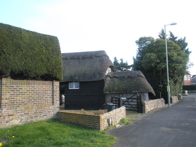 Thatched outhouse on Manor Road