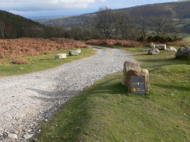 Offa's Dyke Path leaves the Panorama Walk