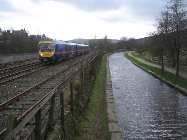 Railway and Canal  in Diggle