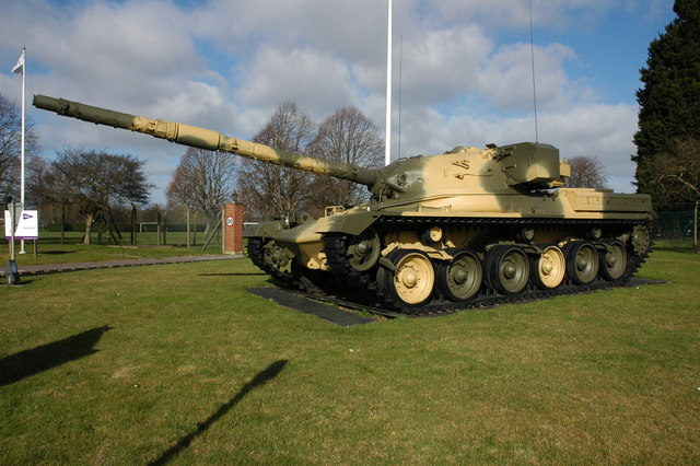 Tank at the entrance to Ashchurch Depot