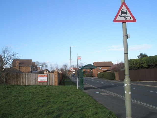 Barley Mow bus stop at West Town