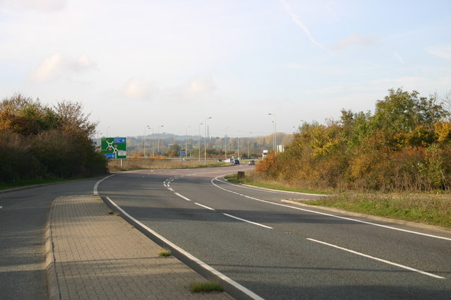 Approaching the M40 Junction 8A