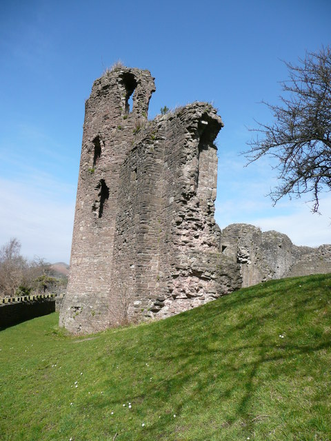 Abergavenny Castle curtain wall
