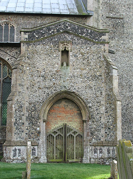 The church of St Peter &amp; St Paul - north porch