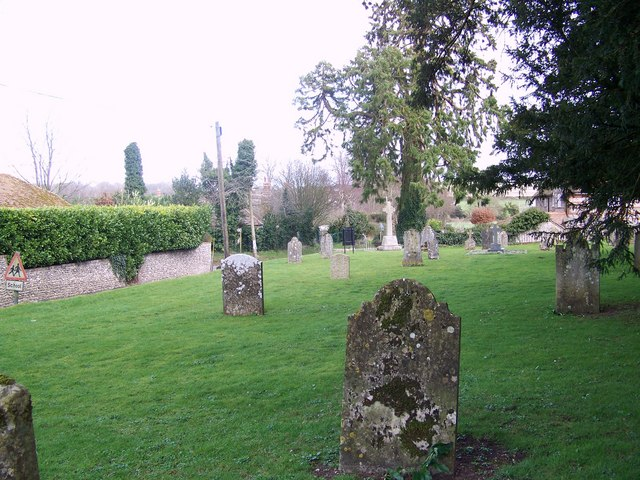 Churchyard and war memorial, Parish Church of St Mary, Winterborne Whitechurch