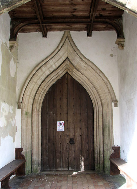The church of St Peter & St Paul - south doorway