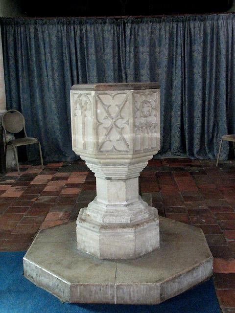 The church of St Peter & St Paul - baptismal font