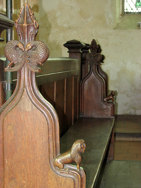 The church of St Peter & St Paul - medieval bench ends