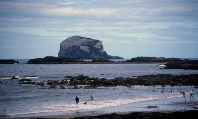 View across North Berwick beach