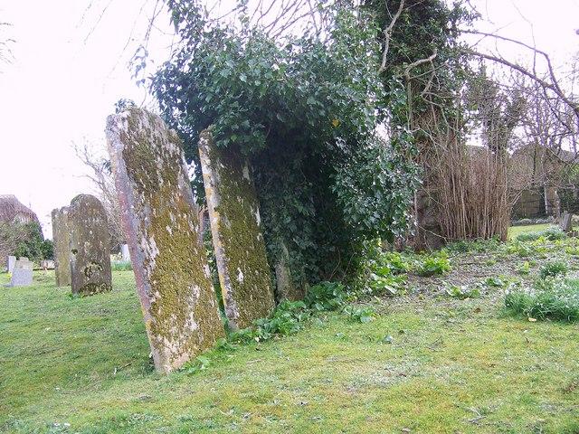Gravestones at St Mary's Church, Winterborne Whitechurch