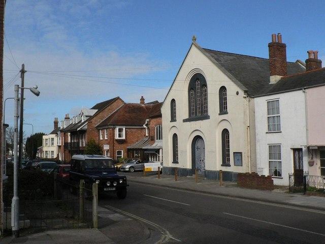 Lymington: disused chapel in Gosport Street