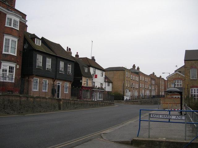 Rochester High Street near Bath Hard Lane