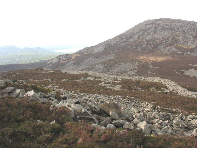 View south-westwards of the interior of the fort from the Bronze Age cairn