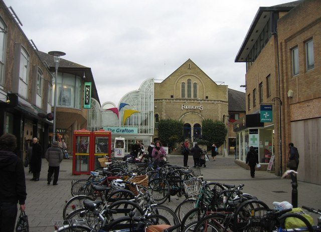 Western end of the Grafton Centre