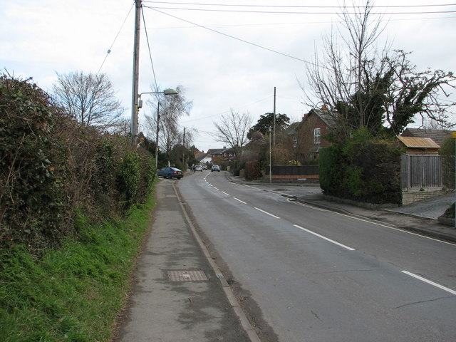 Station Road towards the Forty
