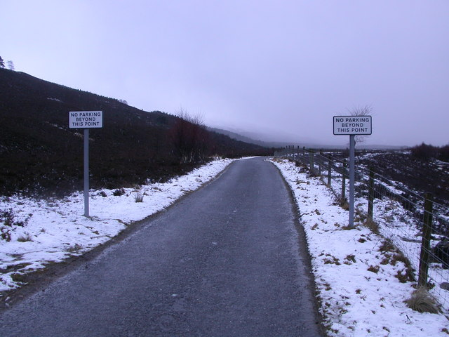 No more parking, Glen Feshie Road