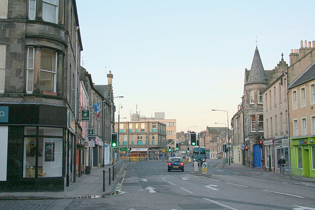 High Street Dalkeith early on a Saturday morning