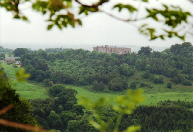 Chirk Castle above Bronygarth