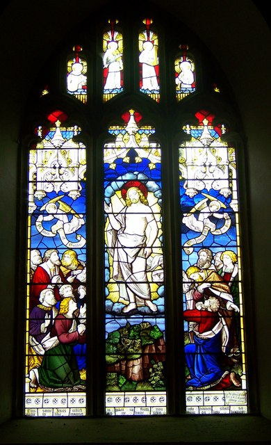 Stained Glass Window, St Mary's Church, Winterborne Whitechurch