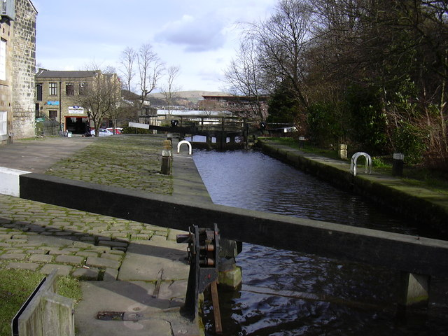 Lock on the Rochdale Canal