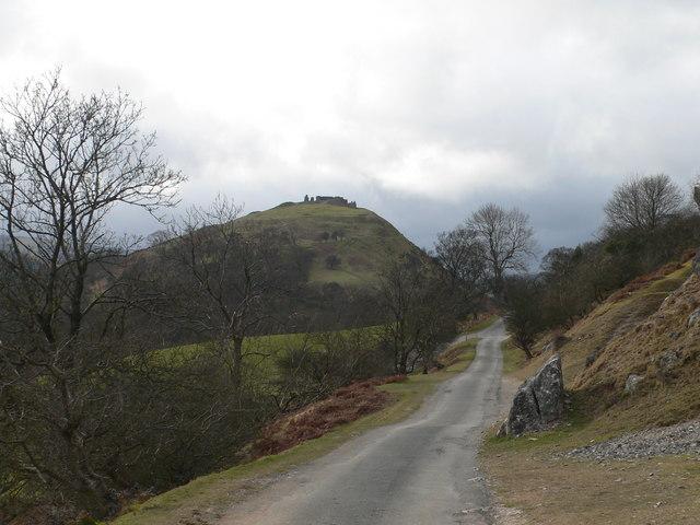Castell Dinas Brân western approach