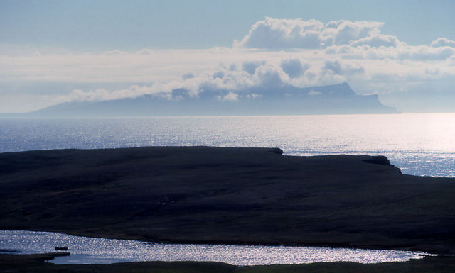 Looking over Loch of Goster towards Foula