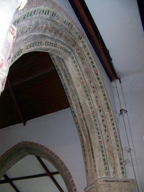 Arch, Parish Church of St Mary, Winterborne Whitechurch