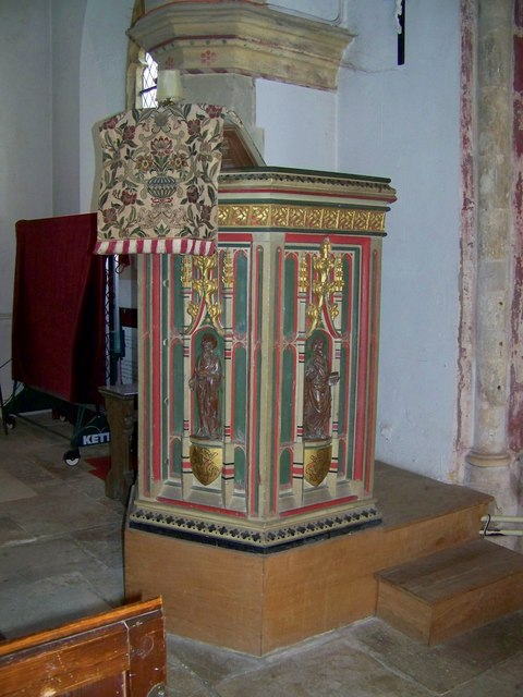 Pulpit, Parish Church of St Mary, Winterborne Whitechurch