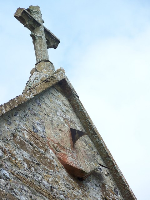 Sundial, Parish Church of St Mary, Winterborne Whitechurch