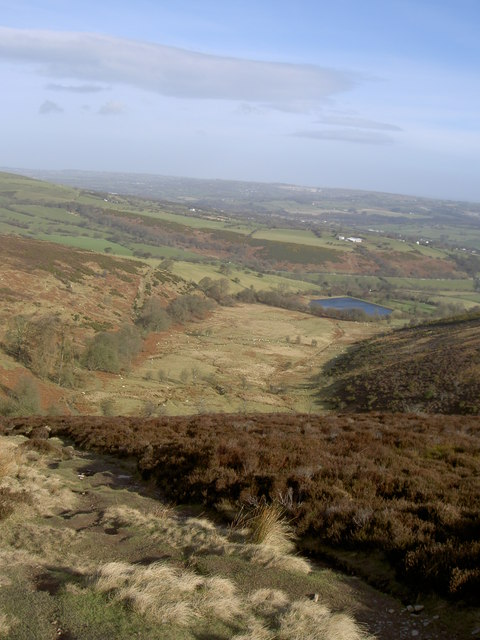 Valley on North Slope of Moel Famau.