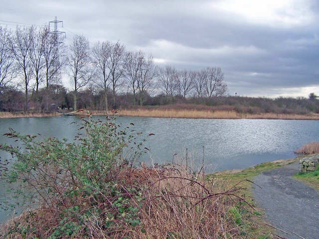 Fishing pond in Church Marshes Country Park