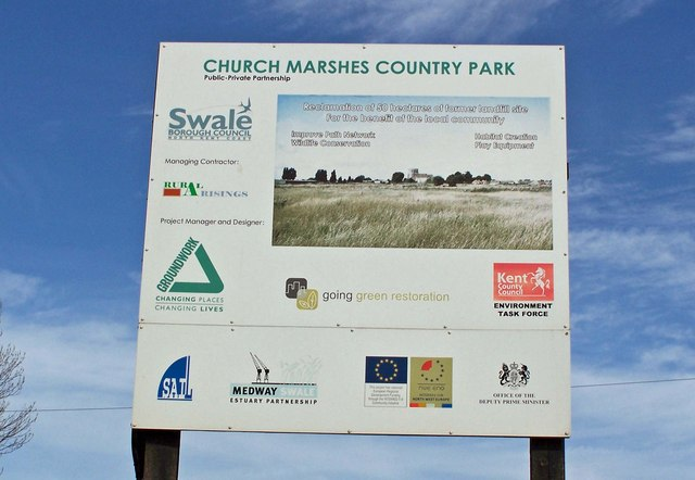 Church Marshes Country Park sign