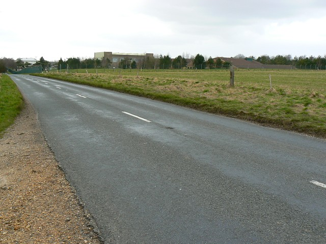 Military buildings and the road to Netheravon