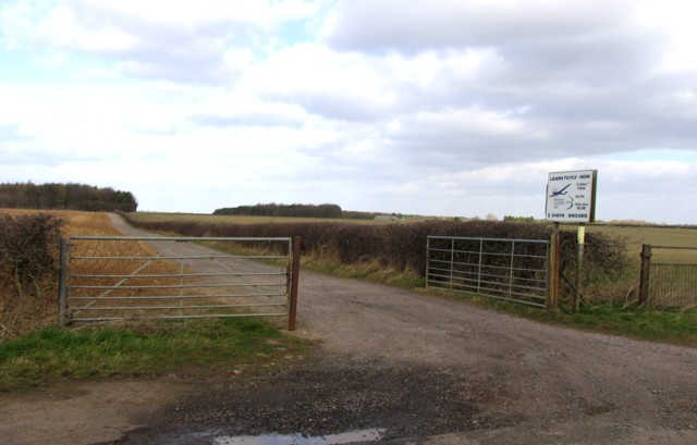Entrance to Buckminster Gliding Club