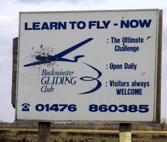Buckminster Gliding Club notice board