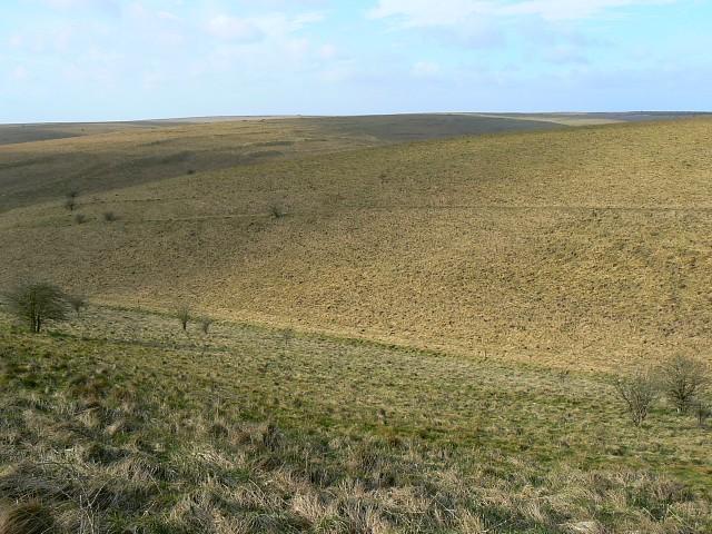 Re-entrant near Water Dean Bottom, Salisbury Plain