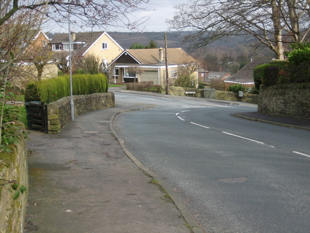 The foot of Langley Lane