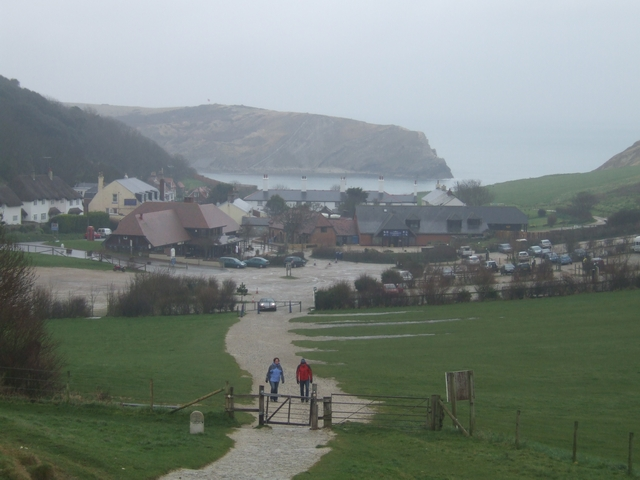 Wet day above Lulworth Cove