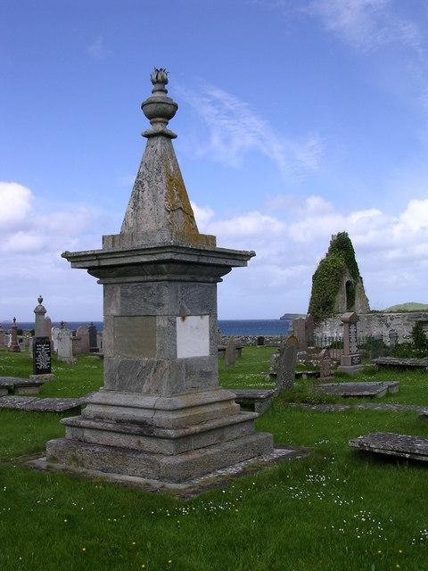 Rob Donn Mackay monument, Balnakeil graveyard