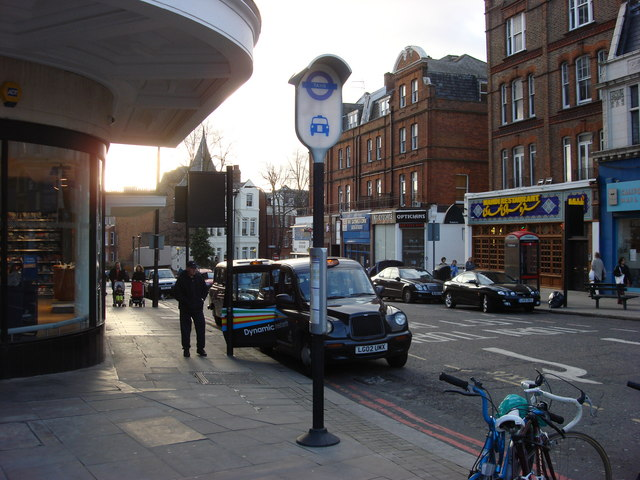 Taxi rank on Canfield Gardens