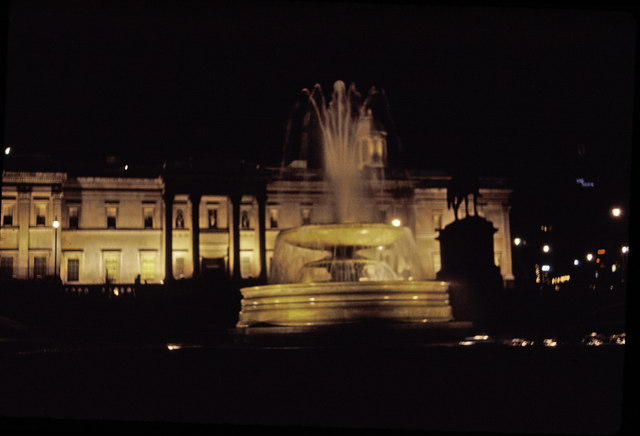 Trafalgar Square, London,  taken in 1969