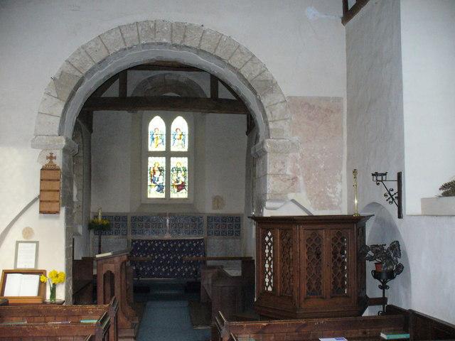 Inside Wisley Church