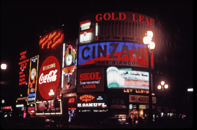Piccadilly Circus, London, taken in 1969