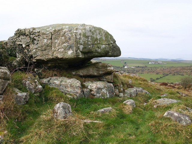 Rock on summit of Berry Down