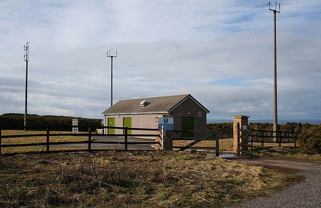 Airfield navigation facility  near Lossiemouth aerodrome
